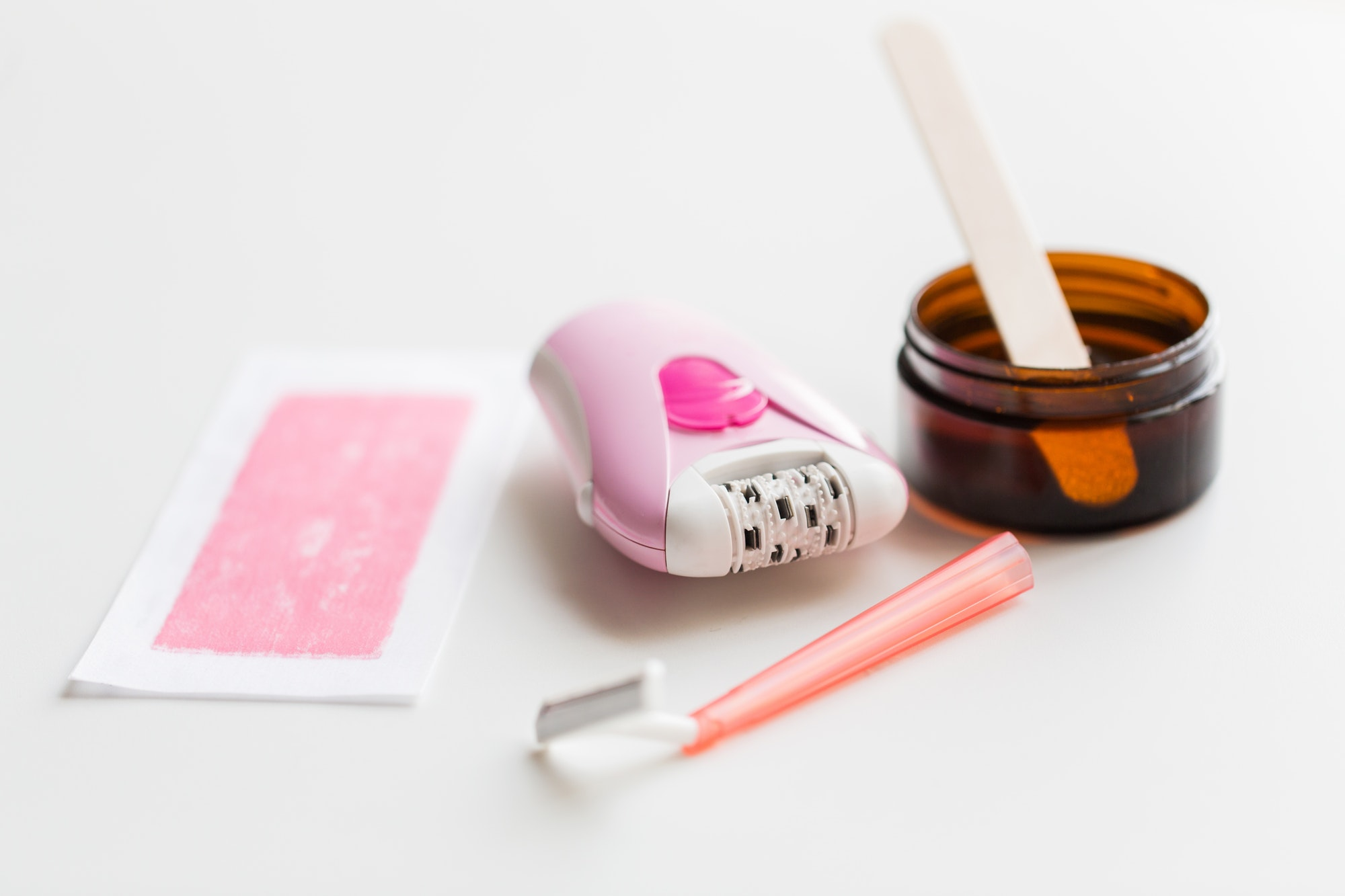safety razor, epilator, hair removal wax and patch